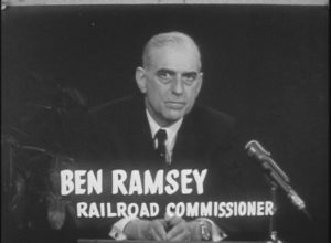 Ben Ramsey Political Telecast for Railroad Commissioner (1962)